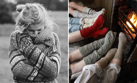 knits, socks, fire, sweater, scarf