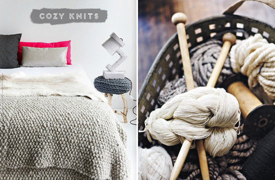 cozy knits, winter, bedroom, yarn