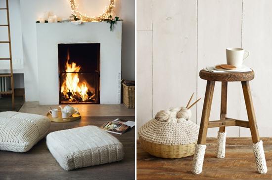 pillows, fall, winter, knit, cozy