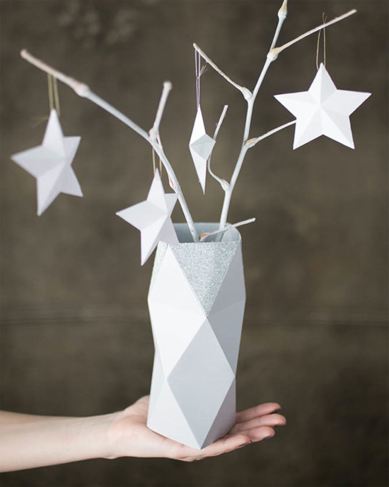 DIY faceted vase