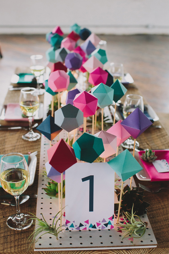 geometric table runner