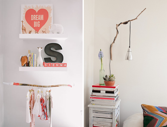 decorating on a budget using branches