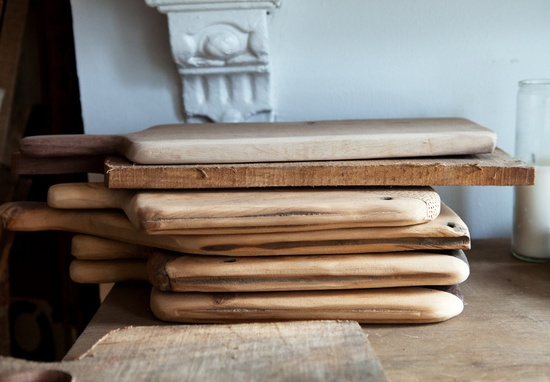 stack of cutting boards