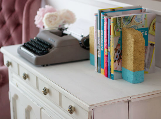 Brick bookends | At Home in Love