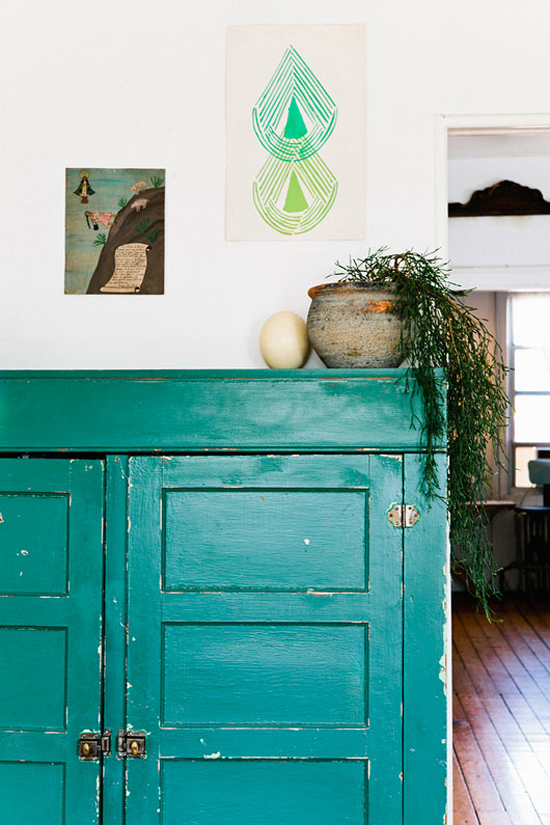 Decorating a rental tip #4: if you can't paint the walls, paint some furniture!