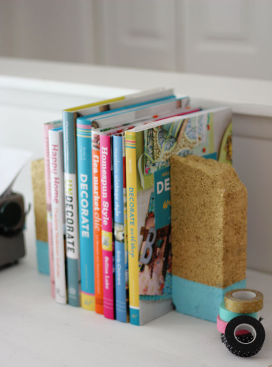 Painted bookends | At Home in Love