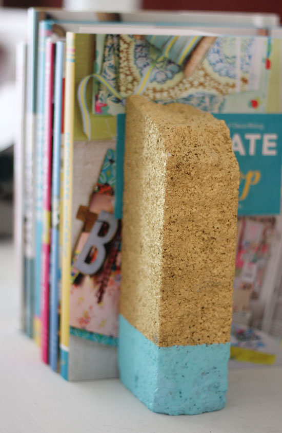 Painted brick bookends | At Home in Love