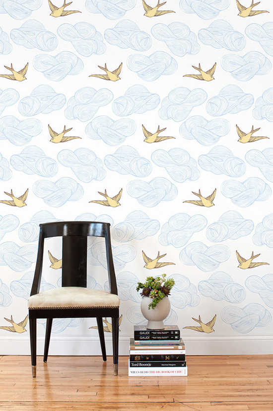 Tip for decorating a rental: removable wallpaper!