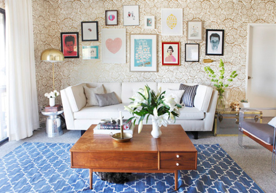 Decoration Carpet On The Wall : Tips for decorating a rental at home in love