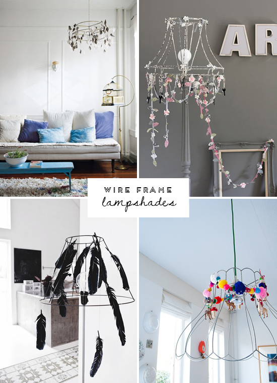 wire-frame-lampshades | At Home In Love