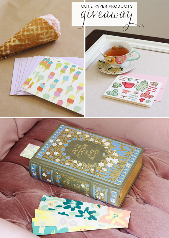 Cute paper products giveaway | At Home in Love