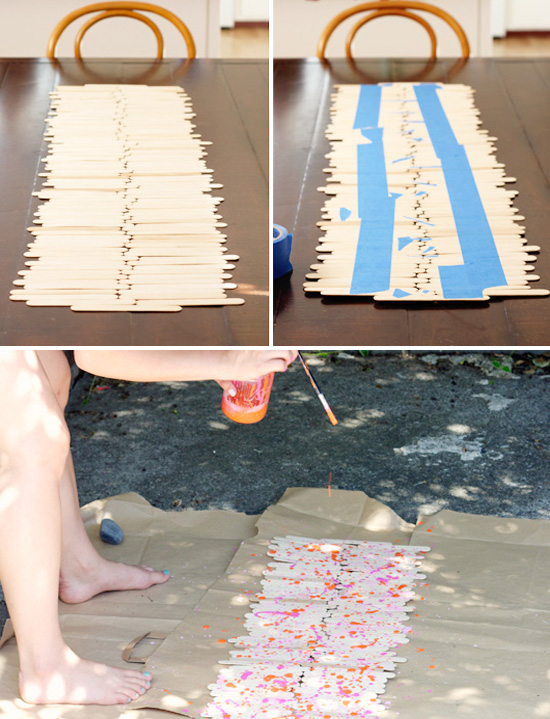 DIY instructions for a popsicle stick runner | At Home in Love