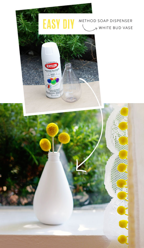 Easy DIY: Method soap dispenser bud vase