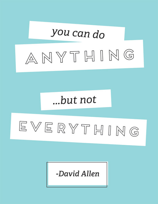 You can do anything...but not everything
