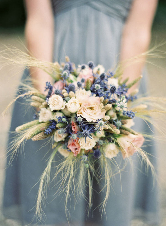 Wedding Bouquets Thistles Gallery For Gt Blue Thistle Bouquet
