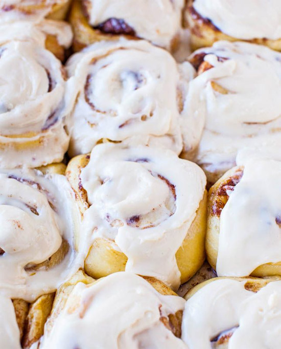 Overnight Cinnamon Rolls With Pecans And Cream Cheese Frosting Recipes ...