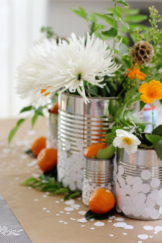 DIY confetti tin cans