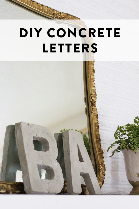 Diy concrete letters at home in love for How to make cement at home