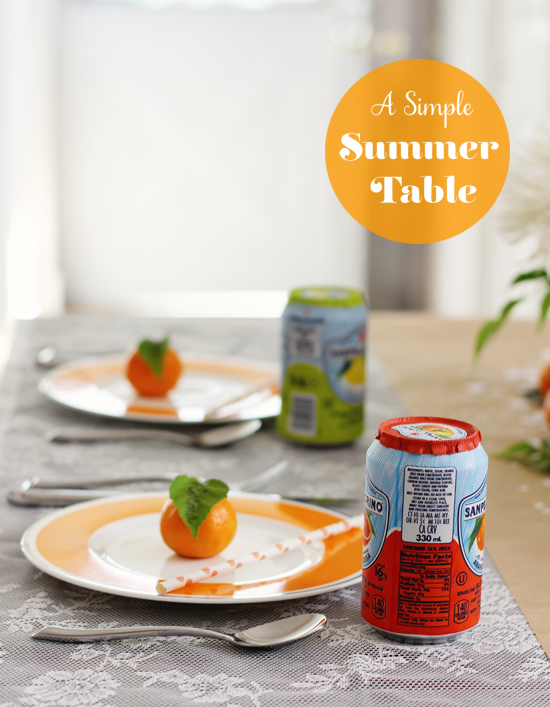 A simple summer table | At Home in Love