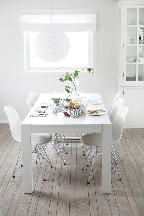 Everything 39 s gonna be all white at home in love for All white dining room