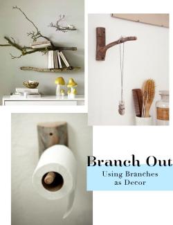Branches as decor