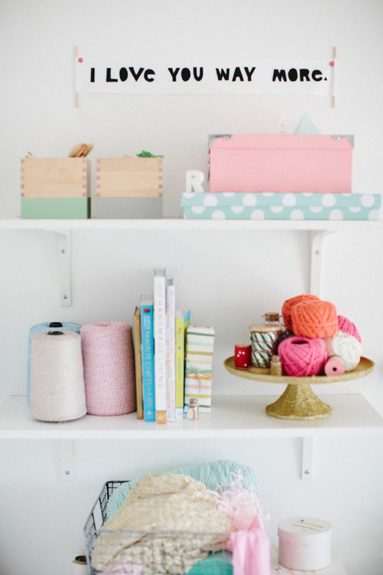 Cute craft storage