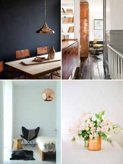 Decorating with copper for fall & winter