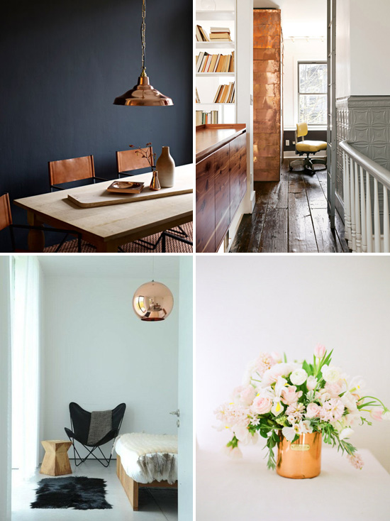 decorating with copper for fall winter