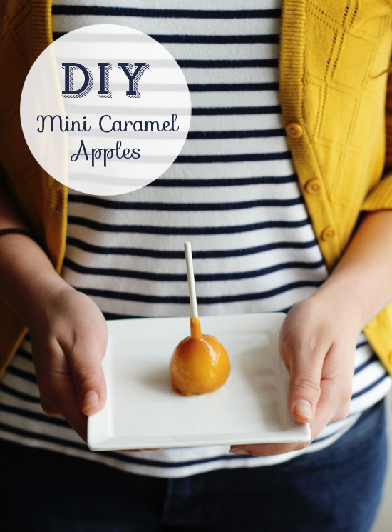 DIY mini caramel apples | At Home in Love
