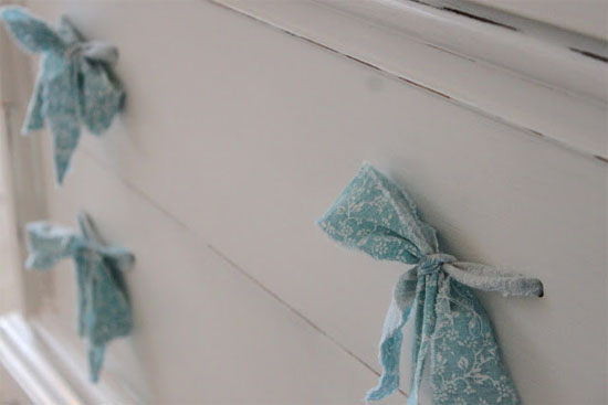 Fabric drawer pulls & other creative ideas | At Home in Love