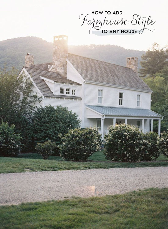 How To Add Farmhouse Style To Any House At Home In Love