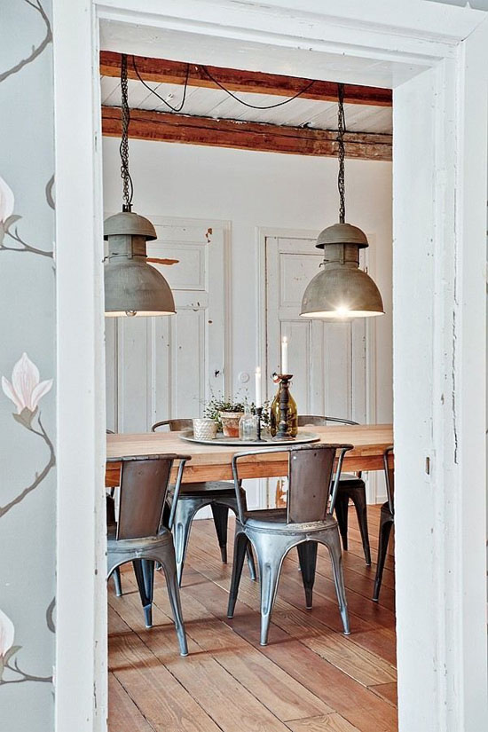 Style In Particular Industrial Pendants Look Right At Home In A