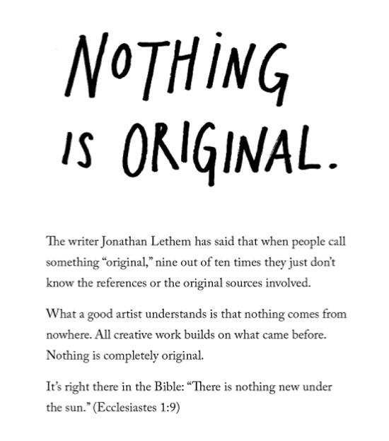 Nothing is original