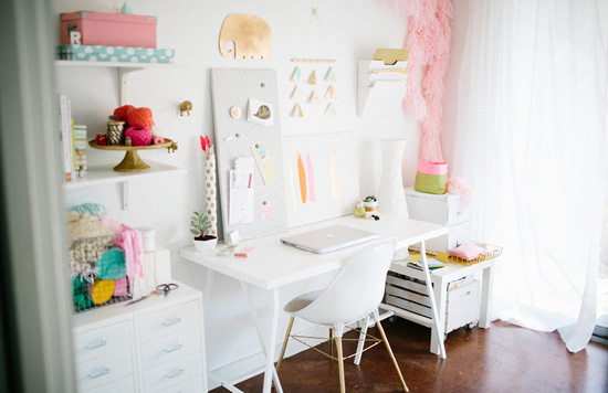Bright & colorful home office
