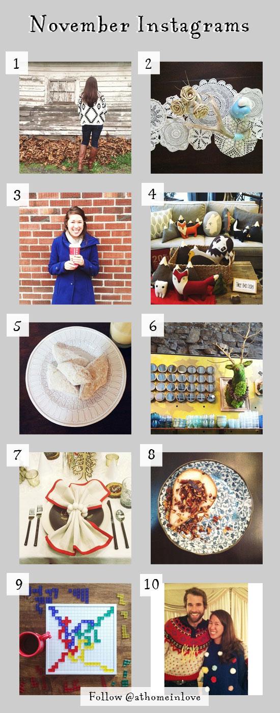 November Instagrams // At Home in Love