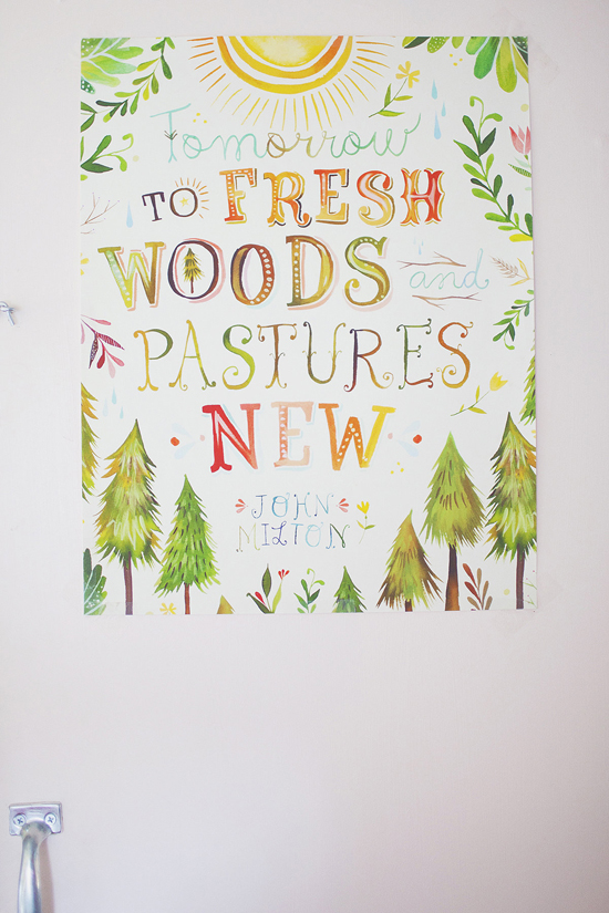 Tomorrow to fresh woods and pastures new