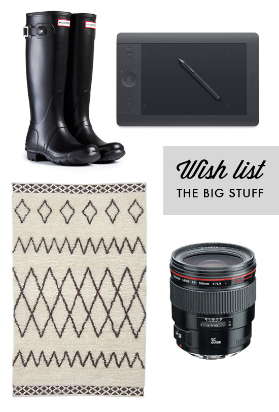 Wish list: the big stuff