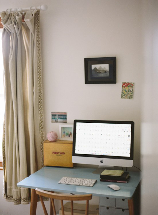 Katharine Peachey's home office