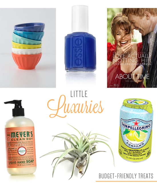 Little luxuries--so you can treat yourself AND keep your resolution to save money!