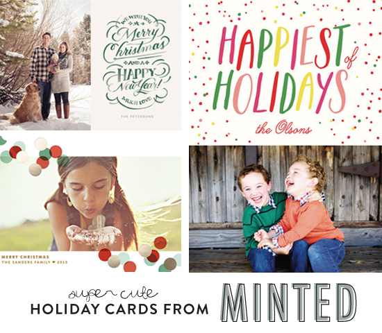 Super cute holiday cards from Minted
