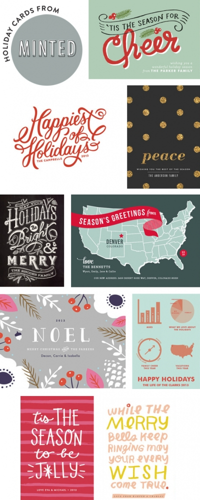 Cute options for holiday cards from Minted // At Home in Love