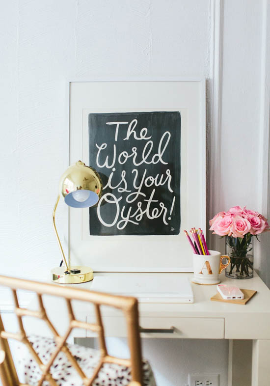 The world is your oyster (love this print!)