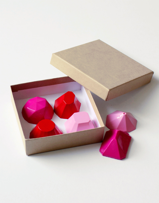 DIY gemstone magnets to give out for Valentine's Day