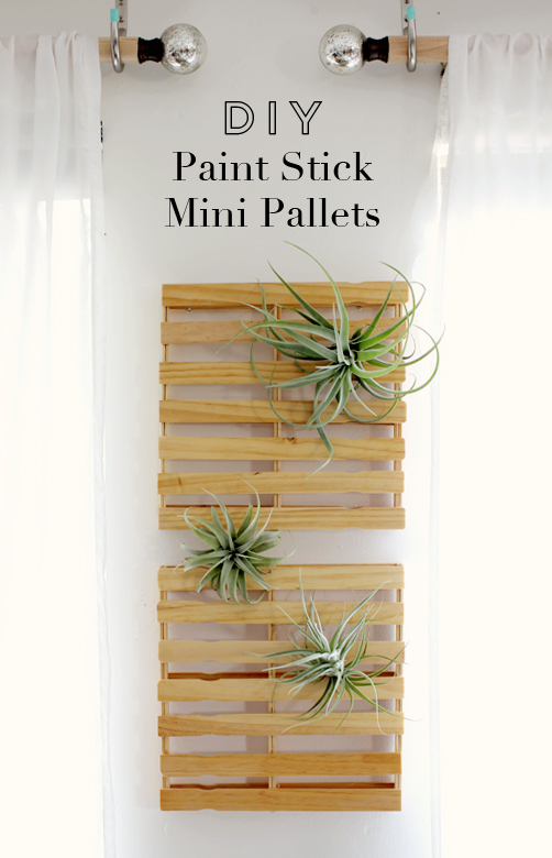 DIY paint stick mini pallets // At Home in Love