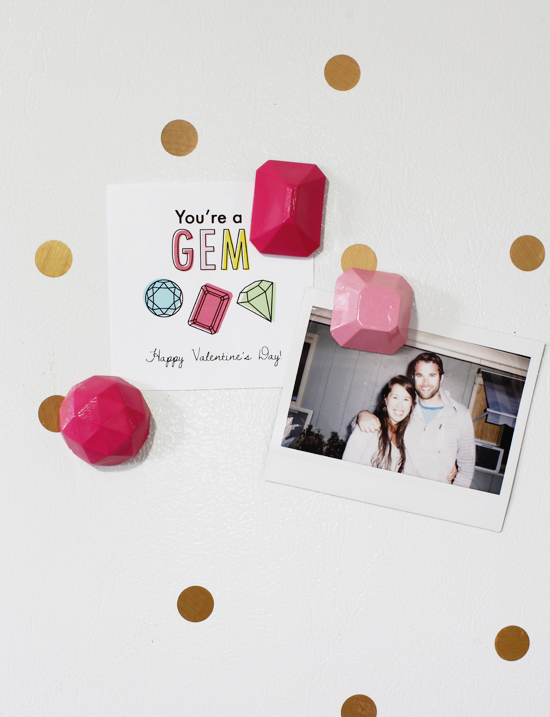 You're a gem // DIY magnets by At Home in Love