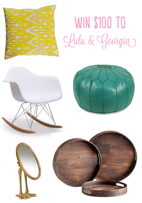 Enter to win $100 to Lulu & Georgia // At Home in Love