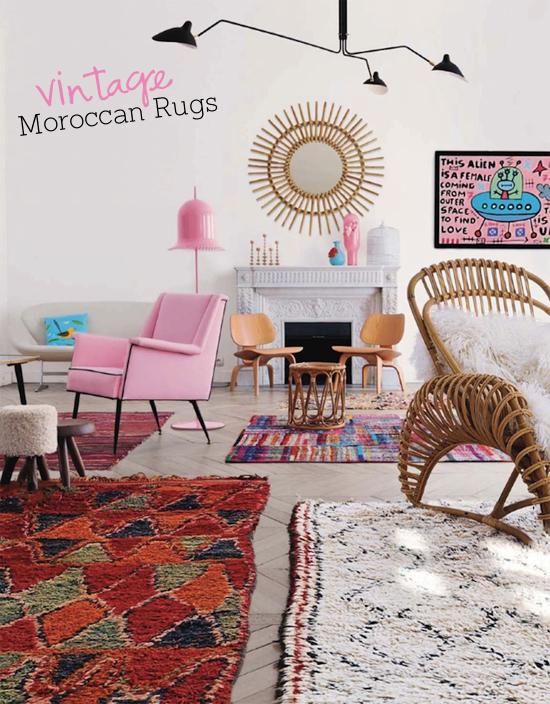 Vintage Moroccan Rugs.