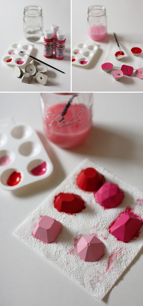 DIY concrete gems -- give them out for Valentine's Day!