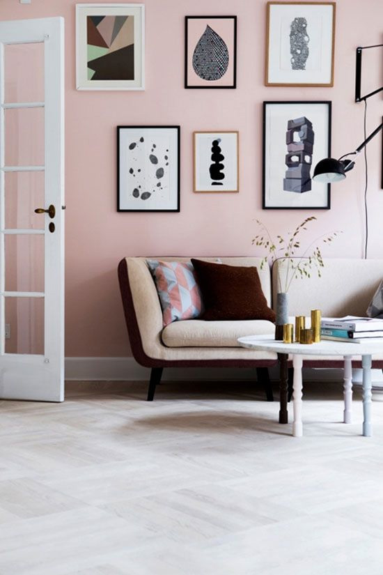 Pale pink walls // At Home in Love