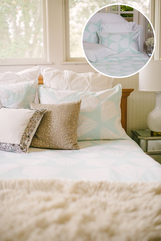 Mix patterns & styles for a well-made bed